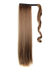 cheap -excellent quality synthetic 24 inch long clip in ponytail straight hair piece