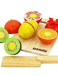 cheap -BENHO Rubber Wood Fruit Set Wooden Education Role Play Toy