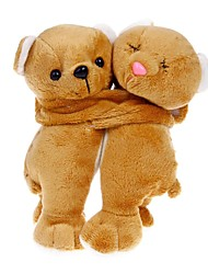 cheap -Lovely Bear Couple Doll Decoration - Brown