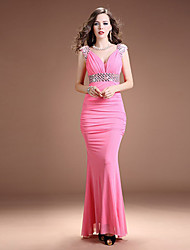 cheap -Mermaid / Trumpet Dress Straps Sleeveless Floor Length Jersey with 2021