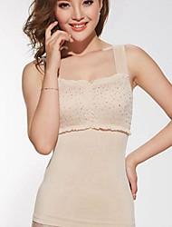 cheap -Summer Shapewear  Boneless Abdomen Drawing Push-Ups Breast Slimming Body Shaper Vest Beige Color Size XL and XXL
