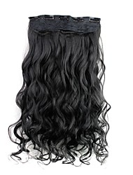 cheap -Curly Classic Synthetic Hair 22 inch Hair Extension Clip In / On Women's Daily