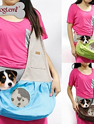 cheap -Cat Dog Carrier & Travel Backpack Shoulder Messenger Bag Fabric Pet Baskets Portable Breathable Green Blue Pink