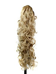 cheap -Ponytails Synthetic Hair Hair Piece Hair Extension Wavy / Loose Wave Daily / Blonde