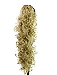 cheap -Ponytails Hair Piece Hair Extension Daily / Blonde / Wavy