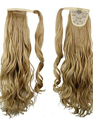 cheap -excellent quality synthetic clip in ponytail 24 inch long curly hair piece