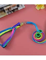 cheap -Fashion Colorful Nylon Lead and Harness Set for Dogs and Pets (assorted colors,size)