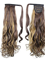 cheap -excellent quality synthetic clip in ponytail 26 inch long curly hair piece