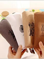 Недорогие -памяти Парижа хлопчатобумажных и льняных стационарного мешок (1 шт случайный цвет)