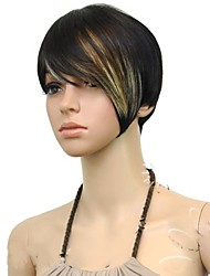cheap -Synthetic Wig Straight Straight Wig Mixed Color Synthetic Hair Women's Multi-color hairjoy