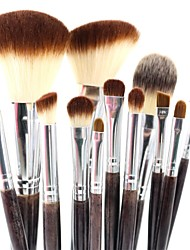 cheap -Professional Makeup Brushes Makeup Brush Set 12 Travel Blending Premium flawless Buffing Stippling Concealer Synthetic Hair / Artificial Fibre Brush for Cream Liquid Powders Makeup Brush Set