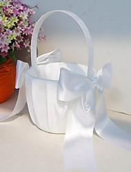 "cheap -Others Flower Basket Wood / Satin 3 1/2"" (9 cm) / 9 7/8"" (25 cm) Acrylic / Bows"