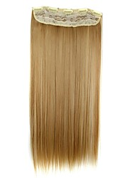 cheap -Human Hair Extensions Straight Hair Extension Clip In / On Blonde Daily