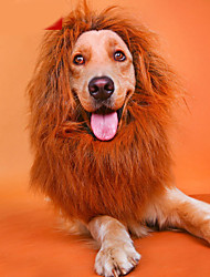 cheap -Cat Dog Necklace Hair Accessories Lion Cosplay Dog Clothes Costume Baby Small Dog Nylon