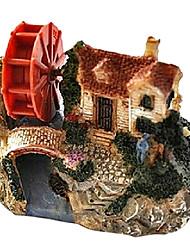 cheap -YEE SC-005 Simulation Villa with The Small Water Wagon Decoration for Fish Tank Aquarium
