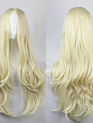 cheap -Synthetic Wig Curly Loose Wave Natural Wave Natural Wave Curly Asymmetrical Wig Blonde Long Cream Synthetic Hair 25 inch Women's Natural Hairline Blonde