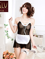 Недорогие -KLV шею женская Rousha сексуальный прозрачный форму горничной