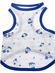 cheap -Cat Dog Shirt / T-Shirt Dog Clothes Blue Pink Costume Cotton Cosplay Wedding XS S M