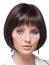 cheap -Synthetic Wig Straight Straight Bob Wig Short Golden Brown With Blonde Synthetic Hair 6 inch Women's Brown StrongBeauty