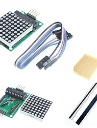cheap -MAX7219 Red Dot Matrix Module and Accessories for Arduino