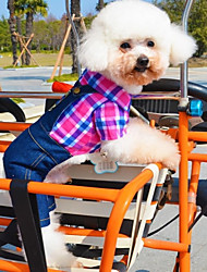 cheap -Dog Costume Jumpsuit Winter Dog Clothes Green Rose Costume Cotton Jeans Cosplay Casual / Daily XS S M L XL