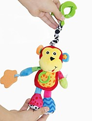 cheap -Babyfans ™ Baby Lovely Monkey Shaped Stuffed Music Voice Flexible Activity Educational Hanging Toys