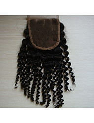 cheap -Classic Kinky Curly Human Hair Extensions High Quality Natural Black 14 inch 16 inch 18 inch 20 inch 8 inch