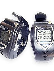 Недорогие -22 каналов Щепка Стиль наручные часы пара Walkie Talkie с ЖК-экран большой подсветки