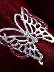cheap -Women's Statement Ring thumb ring Sterling Silver Ladies Unusual Unique Design Wedding Party Jewelry Hollow Out Butterfly Animal