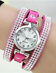 cheap -Women's Bracelet Watch Wrist Watch Quartz Leather Rose Imitation Diamond Analog Ladies Charm Fashion - Green Blue Light Blue One Year Battery Life / Tianqiu 377