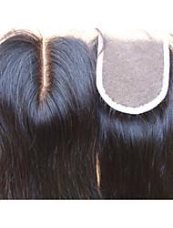 "cheap -Brazilian Virgin Hair Closure Middle Part 3.5""x4"" Straight Natural Colour Hair Pieces Lace Closure 1Pc"