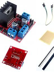 Недорогие -L298N двойного ч мост шагового водитель модуль и аксессуары для Arduino контроллер двигателя доска