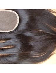 cheap -PANSY Hair weave Human Hair Extensions Straight Classic Human Hair Brazilian Hair Women's Natural Black