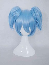 cheap -Assassination Classroom Cosplay Cosplay Wigs Women's 14 inch Heat Resistant Fiber Blue Anime