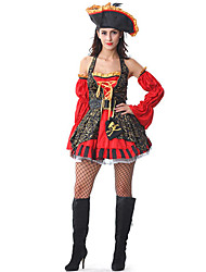 cheap -Pirate Lady Black and Red Dress Women's Halloween Costume