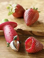 cheap -Strawberry Berry Stem Gem Leaves Huller Removal Fruit Corer Kitchen Tool