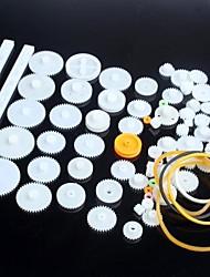 Недорогие -75 видов пластиковых мотор-редуктор передач роботов частей DIY Kit Модель