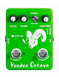 Недорогие -JOYO JF-12 Вуду октавы Fuzz гитарным эффектом Guitarra части педали эффект правда обхода для музыкального инструмента
