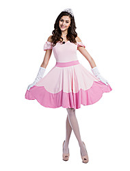 cheap -Princess Cosplay Costume Women's Sexy Uniforms Christmas Halloween Carnival Festival / Holiday Polyester Women's Carnival Costumes Patchwork Lace / Headpiece / Gloves