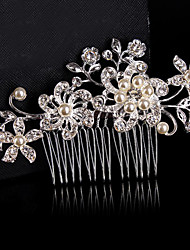 cheap -Material / Sterling Silver / Alloy Hair Combs / Flowers / Headpiece with Beading Party / Wedding / Special Occasion Headpiece