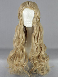 cheap -Cosplay Costume Wig Synthetic Wig Natural Wave Curly Wig Blonde Long Flaxen Women's Blonde