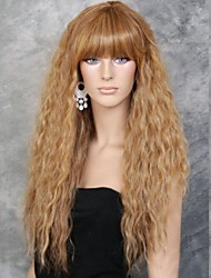 cheap -fashion girl natural golden small wave of high quality synthetic hair