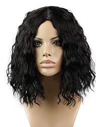 cheap -Synthetic Wig Curly Kinky Curly Kinky Curly Curly Middle Part Wig Blonde Short Medium Length Natural Black Synthetic Hair 12 inch Women's Women Blonde Black