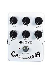 Недорогие -Joyo JF-15 Калифорния искажение Гитара гитарные партии педаль звукового эффекта правда обхода 6 регулировочные ручки