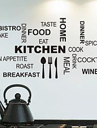 Недорогие -стикеры стены Наклейки на стены, кухонные английских слов& цитирует наклейки стены PVC