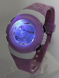 cheap -Kid's Fashion Watch Digital Watch Quartz Digital Ladies Casual Watch Digital Purple / One Year / Silicone / Japanese / Japanese / One Year