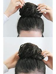Недорогие -Шиньоны Классика Булочка для волос Updo Кулиска Искусственные волосы Волосы Наращивание волос Классика Повседневные Черный
