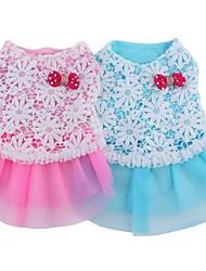 cheap -Cat Dog Dress Dog Clothes Blue Pink Costume Cotton Cosplay Wedding XS S M L XL