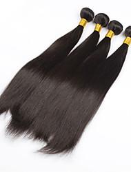 Недорогие -PANSY Уток Расширения человеческих волос Прямой Натуральные волосы Бразильские волосы 26 дюймовый Жен. Естественный черный / 8A / Прямой силуэт