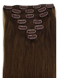 cheap -brazilian hair clip in on hair extension natural straight 18inch many colours for your choice